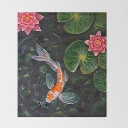 Koi Pond Throw Blanket