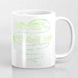 Never Grow Up! Green Coffee Mug