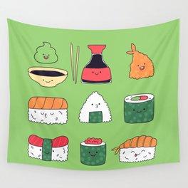 Kawaii sushi Wall Tapestry