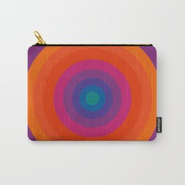 Retro Bullseye Pattern Carry-All Pouch