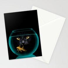 Black Cat Goldfish II Stationery Cards