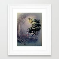 thegnarledbranch Framed Art Prints featuring The Beckoning by TheGnarledBranch