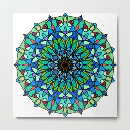Magic mandala space object Metal Print