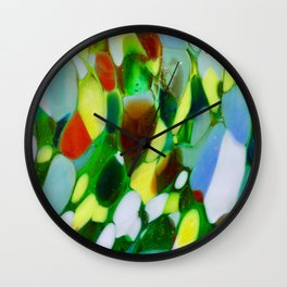 Mexican Rainbow Glass Wall Clock