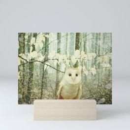 Winter Owl Mini Art Print