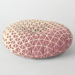 Red and Light Beige Geometric Triangle Pattern 2021 Color of the Year Passionate & Diamond Weave Floor Pillow