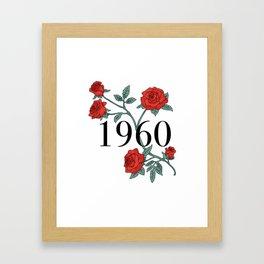 1960 Framed Art Print