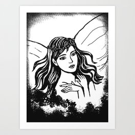 Fairyland In Black and White Art Print