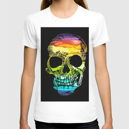Rainbow Boho Skull I T-shirt