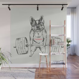 Frenchie Lift Wall Mural