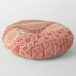 Ornate Moroccan in Red Floor Pillow