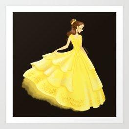 Golden Beauty Art Print