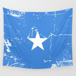 Somalia flag with grunge effect Wall Tapestry