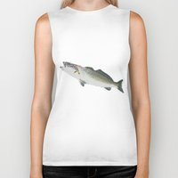 trout Biker Tanks featuring Dad's Speckled trout by Kyle Ellsworth