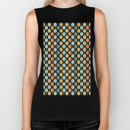 Retro Circles Mid Century Modern Background Biker Tank