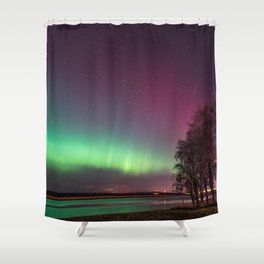 The Northern Lights Shower Curtain