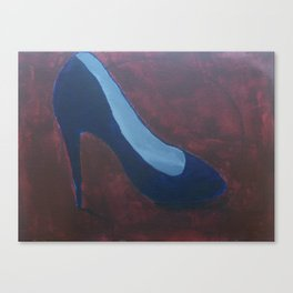 Blue Pump Canvas Print