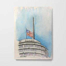 Capitol Records Building Metal Print