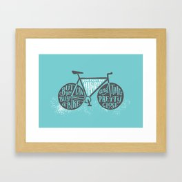 You Can't Buy Happiness Framed Art Print