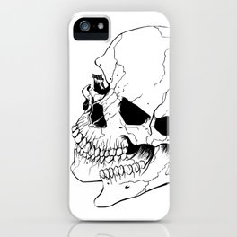Skull #6 (Fragmented and Conjoined) iPhone Case