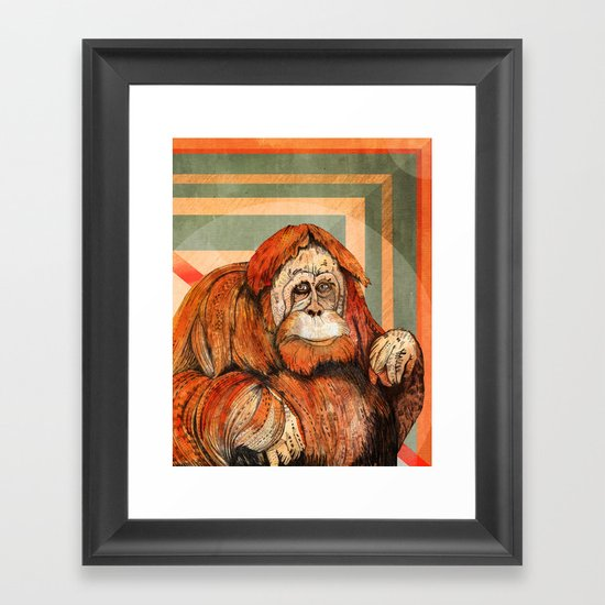 Mr. Orangutan Framed Art Print