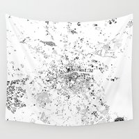dublin Wall Tapestries featuring DUBLIN by Maps Factory