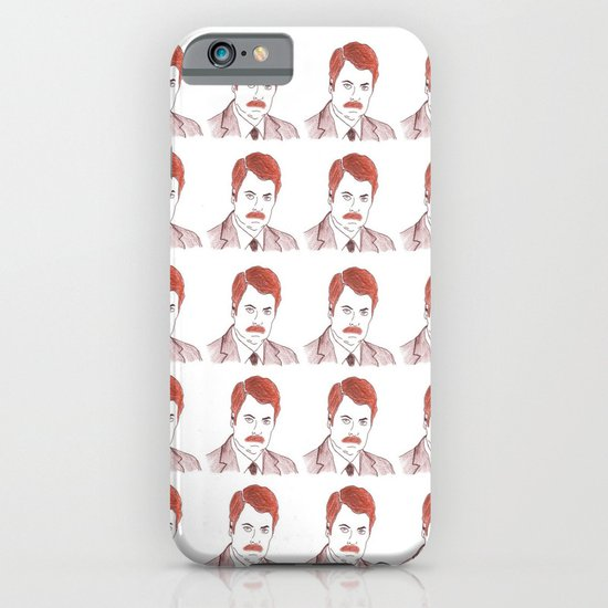 "Ron Swanson ""Diptych"" iPhone & iPod Case"