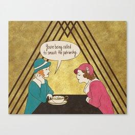 Tea and Patriarchy Canvas Print