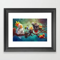 Griffins of a Feather Framed Art Print