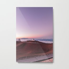 Telescopes on Mauna Kea Summit Metal Print