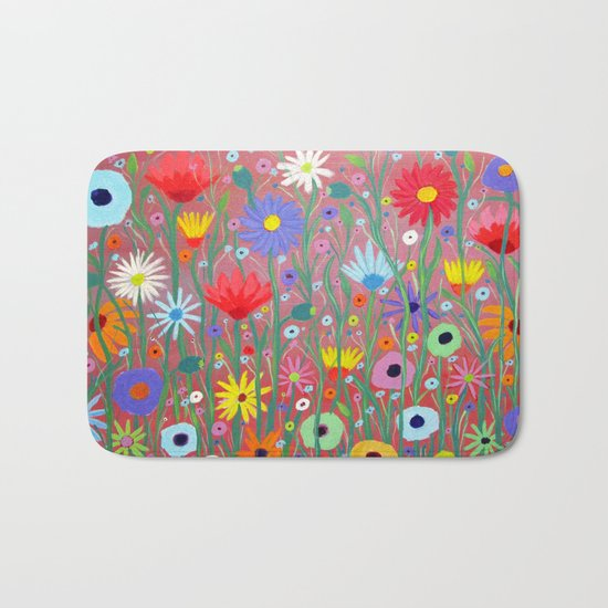 Flowers-Abstracts  Bath Mat