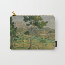 "Paul Cezanne ""Mountain Sainte-Victoire and the Viaduct of the Arc River Valley"" Carry-All Pouch"