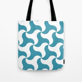 Teal shark tooth pattern for the beach Tote Bag