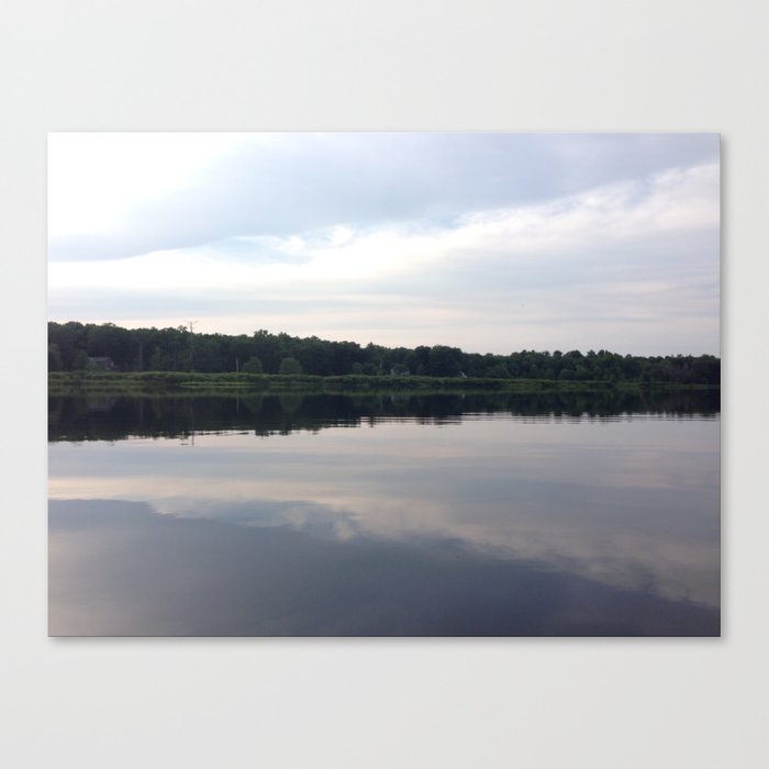 Baesic Reflective Lake Canvas Print
