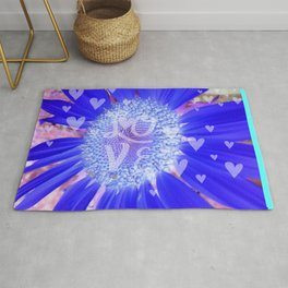 Valentine with a Purple Heart Rug