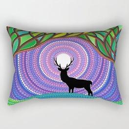 A Silent Visitor Rectangular Pillow