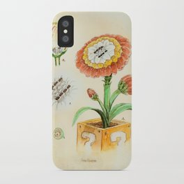 Fire Flower Botanical Illustration iPhone Case