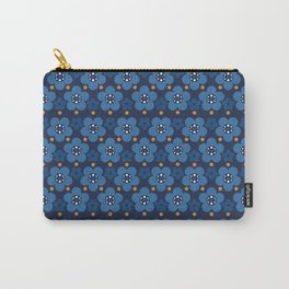 Deep Blue Flowers and the touch of gold Carry-All Pouch
