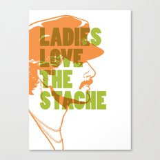 Ladies Love the Mustache Canvas Print