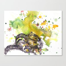 Chipmunk Color Splash Painting Canvas Print