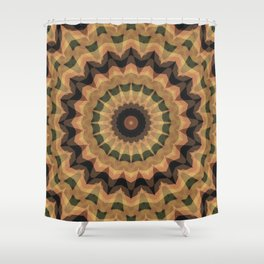 Ethnic ornament, kaleidoscope Shower Curtain