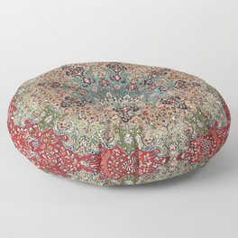 Antique Red Blue Black Persian Carpet Print Floor Pillow