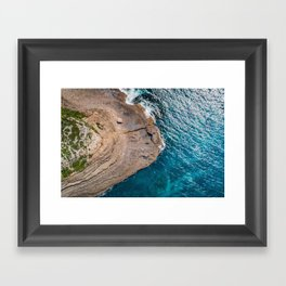 Clear Coastal Waters of the South Coast Framed Art Print