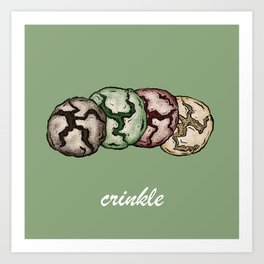 Crinkle Cookies Art Print