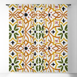 Obsession nature mosaics Blackout Curtain