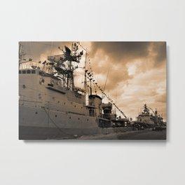 Portuguese Navy frigates Metal Print