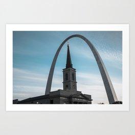 Saint Louis Shades of Blue Art Print