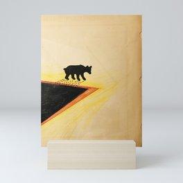 White Bear After Black gold Bath   Mini Art Print