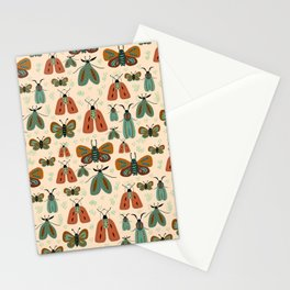 Minty butterflies Stationery Cards