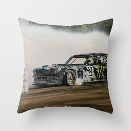 Ken Block Hoonicorn Drift Car Throw Pillow